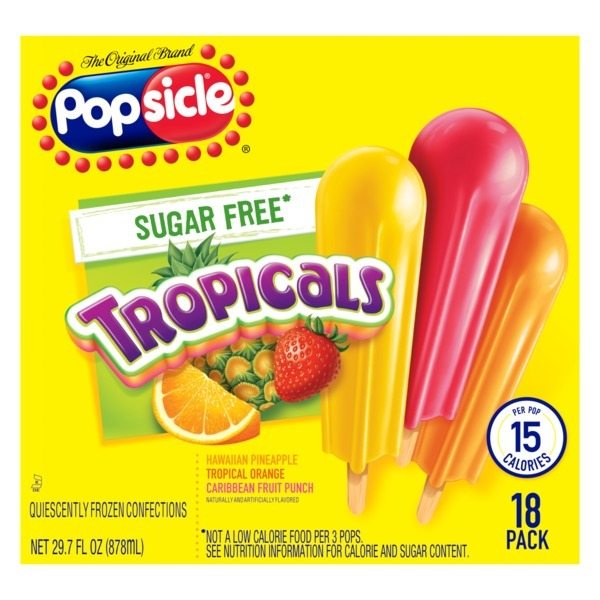 Popsicle Ice Pops Sugar Free Tropicals (18 ct) from Publix - Instacart