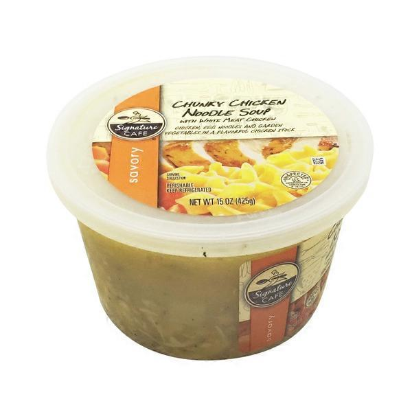 Vons. Signature Cafe Chicken Noodle Soup With White Meat Chicken