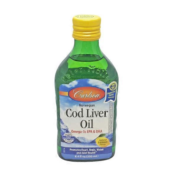 Carlson labs cod liver oil lemon flavor from natural for Is cod liver oil the same as fish oil