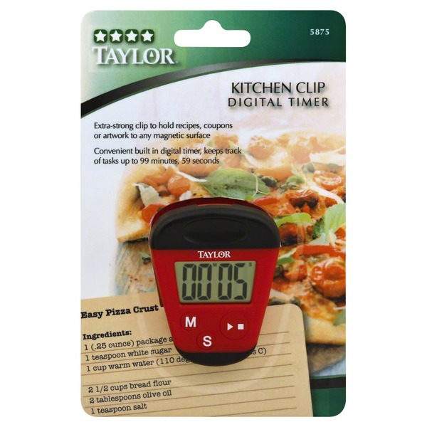 Taylor Digital Timer, Kitchen Clip (1 each) - Instacart