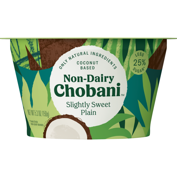 Chobani Non Dairy Slightly Sweet Plain Yogurt