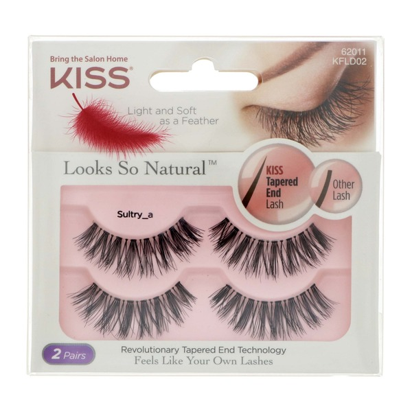 40a364e09c2 Kiss Looks So Natural Double Pack Sultry False Eyelashes (each) from H-E-B  - Instacart