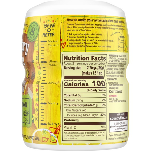 34 Country Time Lemonade Nutrition Label - Labels Database ...