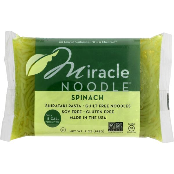 Miracle Noodle Zero Net Carb Gluten Free Shirataki Pasta Spinach
