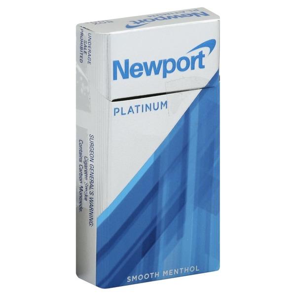 Newport Cigarettes, Class A, 100s, Platinum, Smooth Menthol
