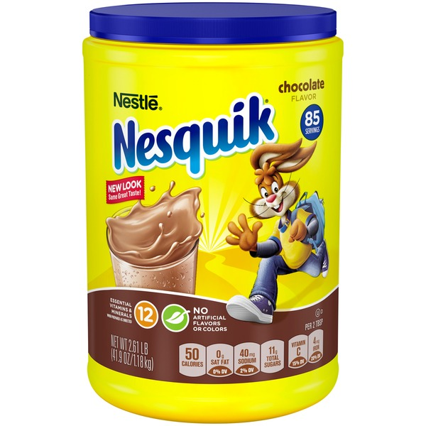 Nestle nesquik chocolate flavored milk powder from costco instacart nestle nesquik chocolate flavored milk powder sciox Choice Image