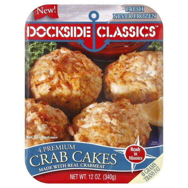 Dockside Classics Premium Crab Cakes 4 Ct