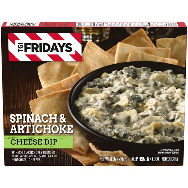 Tgif Spinach Artichoke Cheese Dip Frozen Snack 8 Oz Instacart