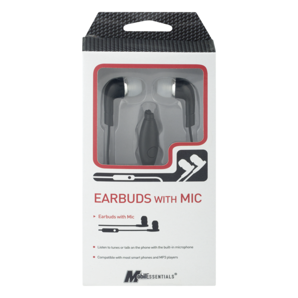 Mobilessentials Earbuds With Mic 1 Ct Instacart