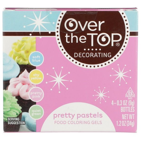 Over The Top Pretty Pastels Food Coloring Gels (1.2 oz) from ...