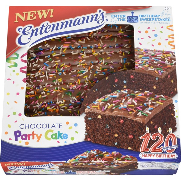 Entenmanns Chocolate Party Iced Cake