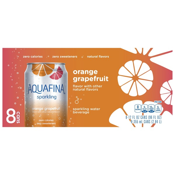 b7668ae5a9 Aquafina Sparkling Orange Grapefruit Water Beverage from Randalls ...
