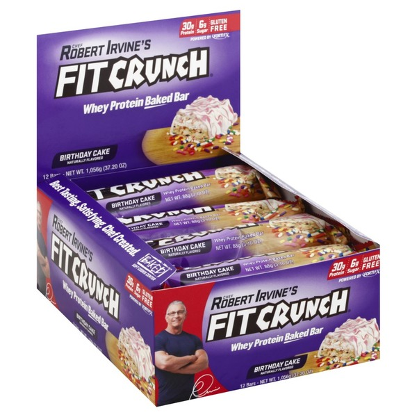 Fit Crunch Baked Bar Whey Protein Birthday Cake