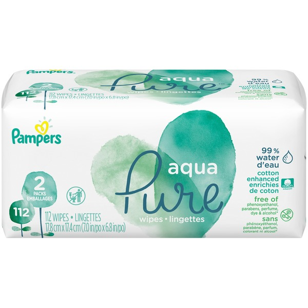 Pampers Aqua Pure Wipes (112 ct) from Food Lion - Instacart