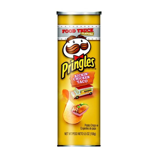 Pringles Potato Crisps Chips Kickin' Chicken Taco