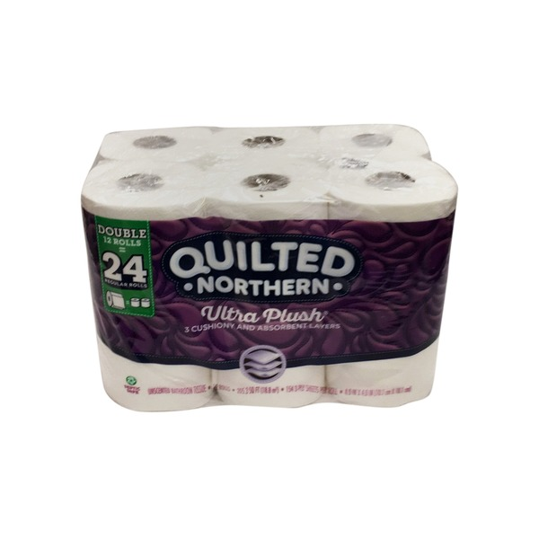 Quilted Northern Double Rolls Ultra Plush Toilet Paper 24 Ct From