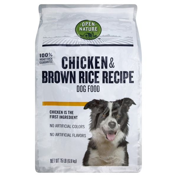 Open Nature Dog Food, Chicken & Brown Rice Recipe (15 lb
