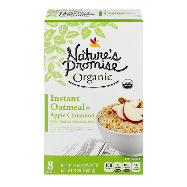 67b06cca0a0 Nature's Promise Organic Instant Oatmeal Apple Cinnamon - 8 CT (1.41 ...