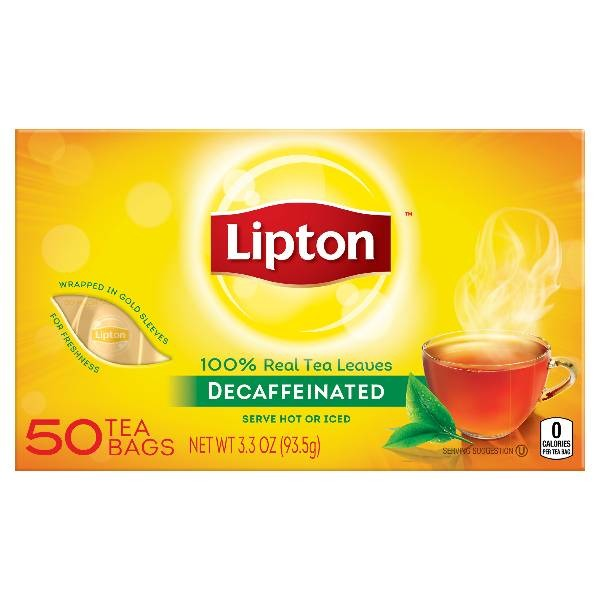 lipton black tea bags decaffeinated from safeway instacart
