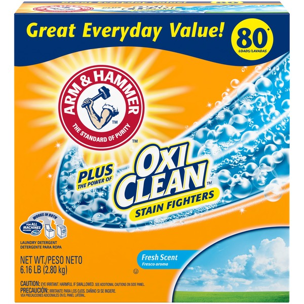 Arm Hammer Plus Oxiclean Fresh Scent 80 Wash Loads Powder Laundry