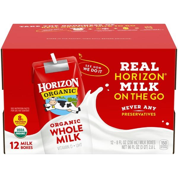 Horizon Organic Organic Vitamin D Whole Milk 8 Fl Oz From Walmart Instacart