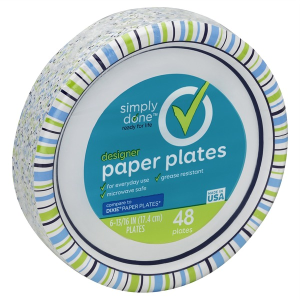 Simply Done 6-13/16\  Designer Paper Plates  sc 1 st  Instacart & Simply Done 6-13/16\