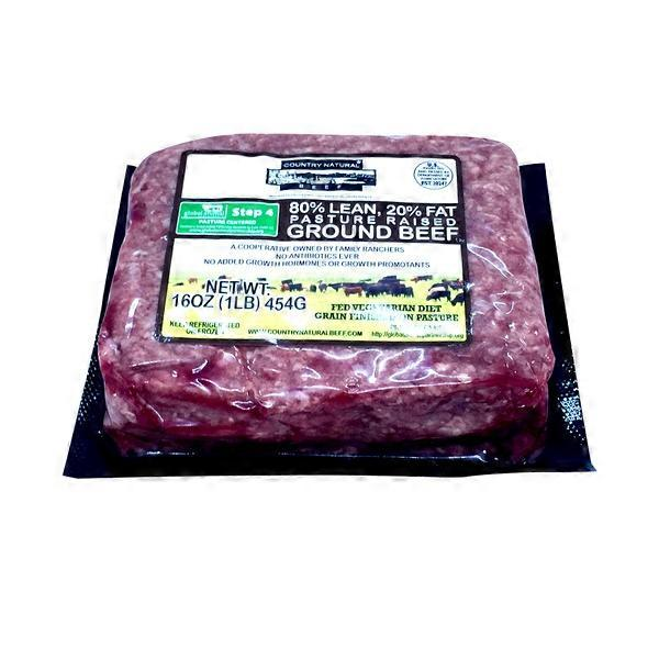 Country Naturals 80 Ground Beef Brick From Whole Foods