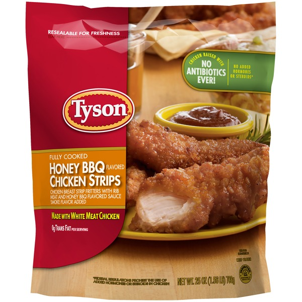 Tyson Frozen Breaded Tyson® Fully Cooked Honey BBQ Chicken Strips