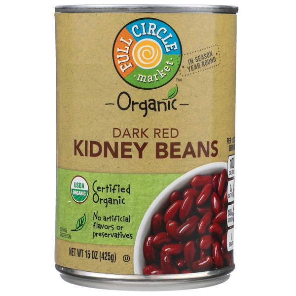Full Circle Market Organic Dark Red Kidney Beans 15 Oz From Schnucks Instacart