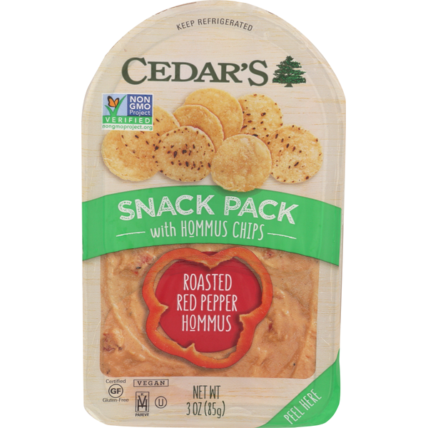 Cedar's  Roasted Red Pepper Hummus With Chips from Dillons - Instacart