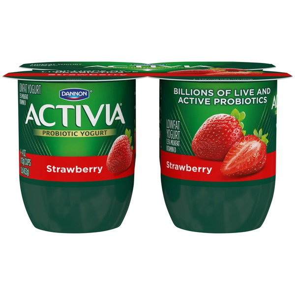 Activia Strawberry Lowfat Probiotic Yogurt