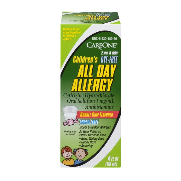 CareOne Children's All Day Allergy Bubble Gum Flavored from Giant