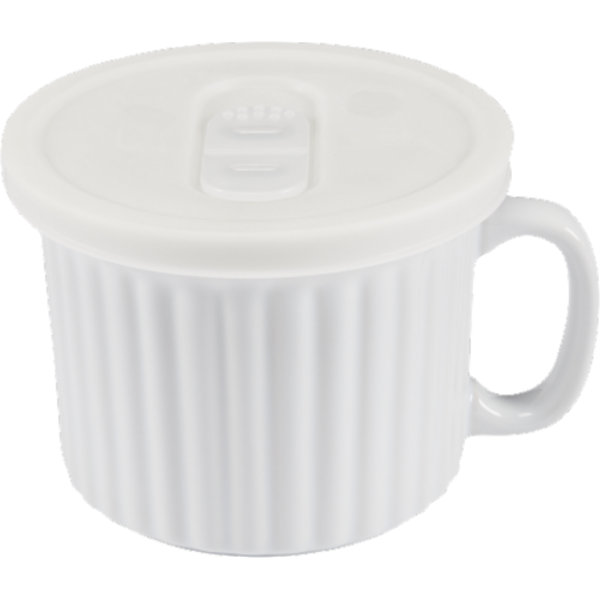 Dash Of That 18-Ounce White Ceramic Soup Mug With Lid (18 oz) from ...