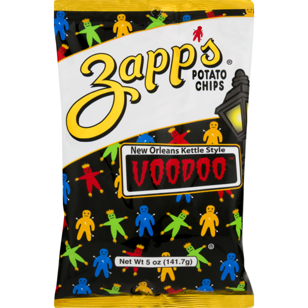 Zapp's New Orleans Kettle Style Potato Chips Voodoo (5 oz) from