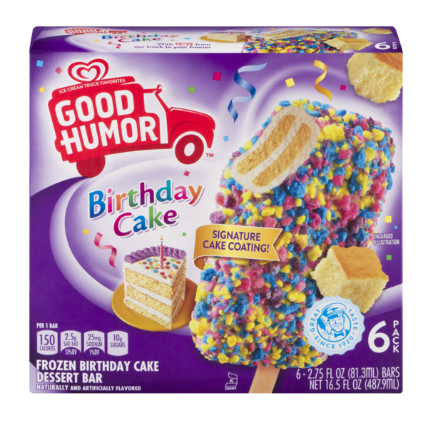 Good Humor Birthday Cake Frozen Dessert Bar 275 Fl Oz From Giant Food