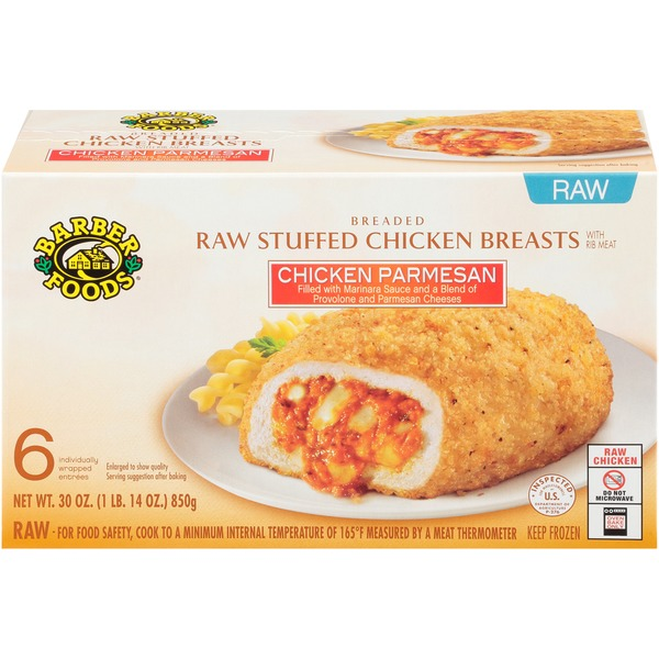 Barber Foods Chicken Parmesan Raw Stuffed Chicken Breasts From