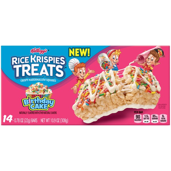 Kelloggs Rice Krispies Treats Birthday Cake Crispy Marshmallow
