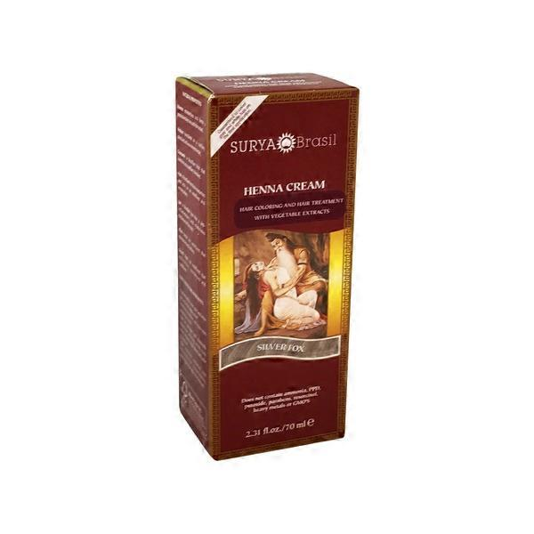 Surya Brasil Silver Fox Henna Hair Coloring Cream 2 31 Fl Oz From