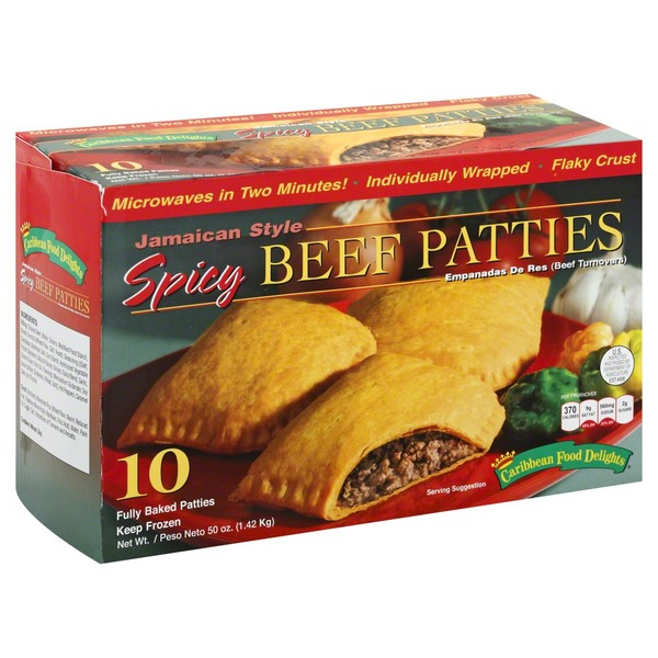 Caribbean Food Delights Beef Patties, Spicy, Jamaican Style