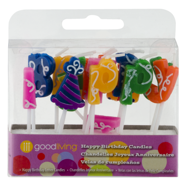 Good Living Happy Birthday Candles Letter