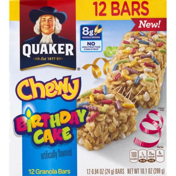 Sensational Quaker Chewy Birthday Cake Granola Bars 0 84 Oz Instacart Personalised Birthday Cards Paralily Jamesorg