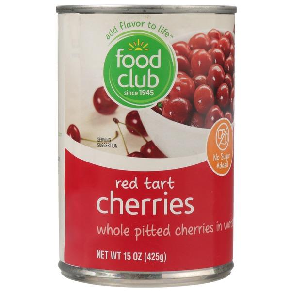 Food Club Red Tart Whole Pitted Cherries In Water (15 oz) from Piggly