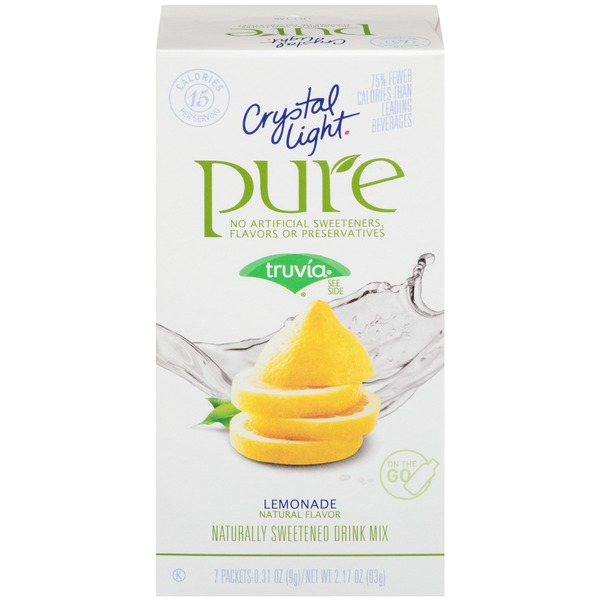 Crystal Light On the Go Pure Lemonade Drink Mix