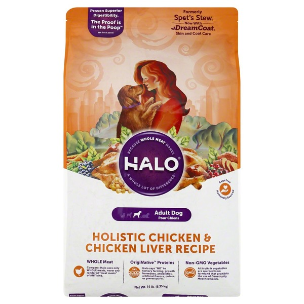 Halo dog food holistic chicken chicken liver recipe adult 14 lb halo dog food holistic chicken chicken liver recipe adult forumfinder Image collections