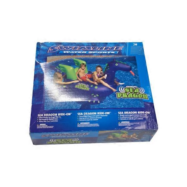 Swimline Giant Sea Dragon Inflatable Ride on Swimming Pool ...