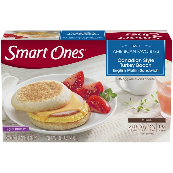 smart ones tasty american favorites canadian style turkey bacon