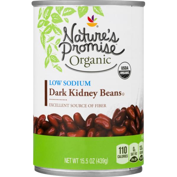 Nature S Promise Organic Low Sodium Dark Kidney Beans 15 5 Oz Instacart