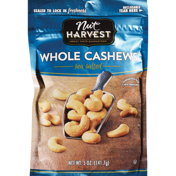 Nut Harvest Sea Salted Whole Cashews (4.75 oz) from Albertsons ... on planters chocolate covered cashews, planters honey roasted cashews, sam's club cashews, planters cashews with sea salt butter, planters deluxe whole cashews, planters dry roasted cashews,