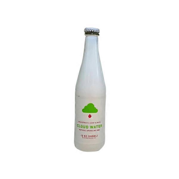 Cloud Grapefruit & Mint Basil Sparkling CBD Water (12 fl oz
