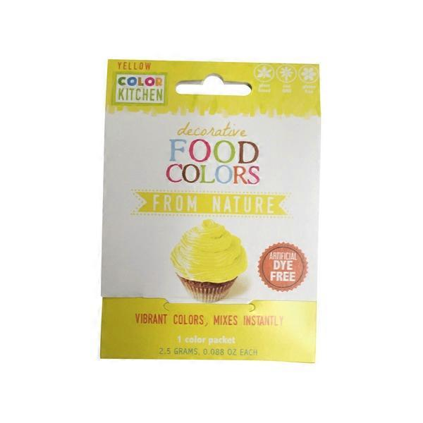 color kitchen natural food color packets bright yellow - Color Packets